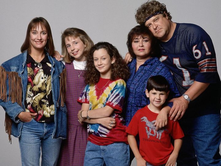The Conner family, as seen in Roseanne.